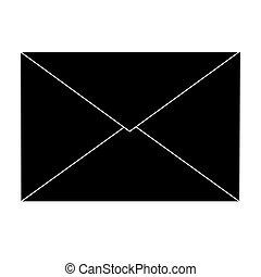 noir, enveloppe