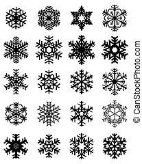 noir, Flocons neige