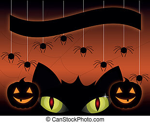 noir, halloween, chat