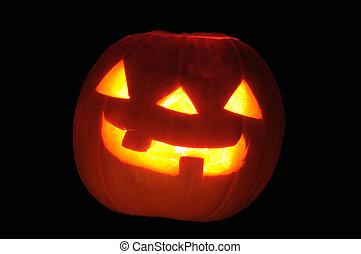 noir, halloween, isolé, fond, citrouille