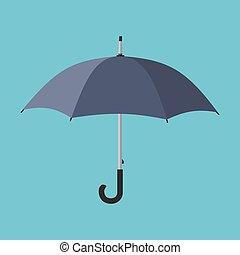 noir, icon., parapluie