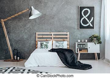 noir, image, à, blanc, signe