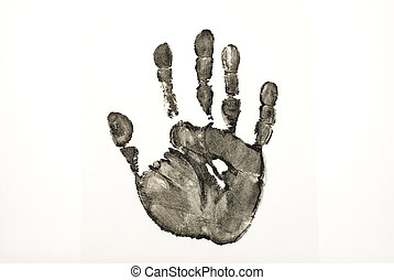 noir, impression, main