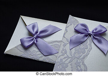 noir, invitation, fond, mariage
