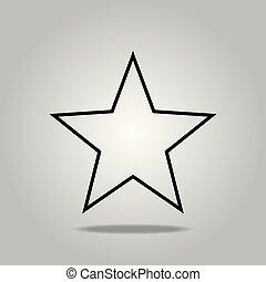 noir, isolé, eps, étoile, arrière-plan., 10, blanc