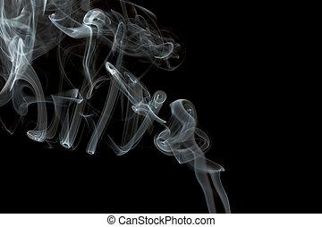noir, isolé, fumée