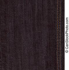 noir, jeans treillis, texture