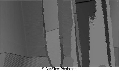 noir, lignes blanches, rippped, 4
