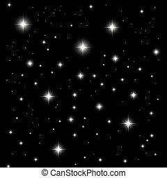 noir, lumière étoiles, fond