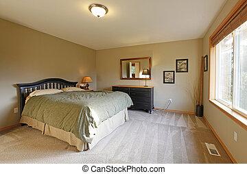 Mur, noir, chambre à coucher. Mur, modèle, literie, noir ...