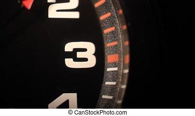 noir, nombres, horloge