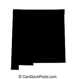 noir nouveau-mexique, carte