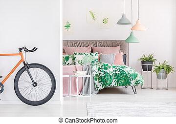 noir, orange, vélo