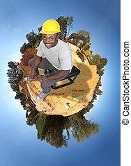 noir, ouvrier construction