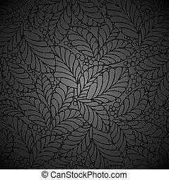 noir, papier peint, royal, seamless
