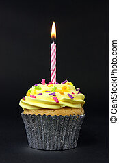 noir, petit gâteau