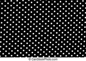 noir, points, fond, blanc