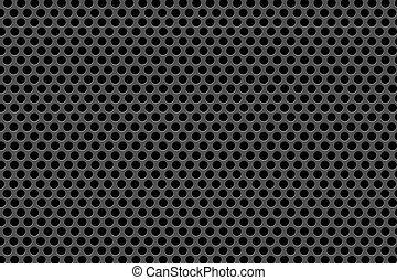 noir, points, sur, arrière-plan noir