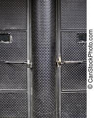 noir, porte, textured