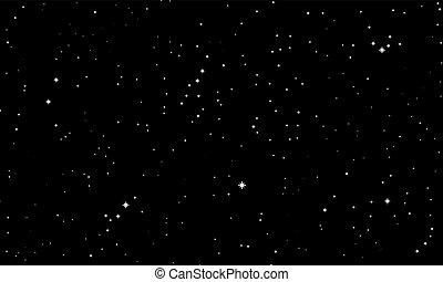 noir, résumé, ciel, blanc, étoiles
