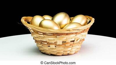 noir, retraite, arrière-plan., investissement, doré, ...