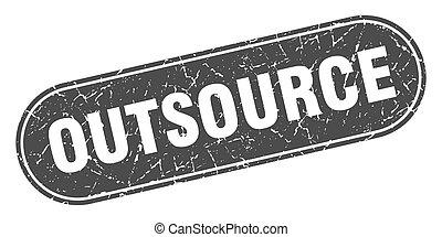 noir, signe., étiquette, stamp., outsource, grunge