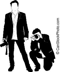 noir, silhouette, photographe