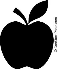 noir, silhouette, pomme