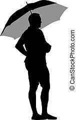 noir silhouettes femmes parapluie sous femmes vecteur eps rechercher des clip art. Black Bedroom Furniture Sets. Home Design Ideas