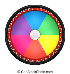 noir, six, roue, fortune