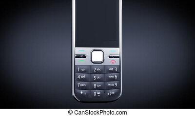 noir, téléphone, arrière-plan., mobile