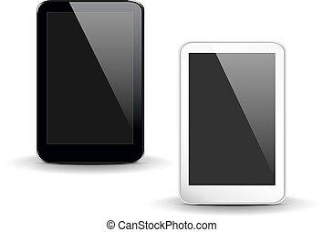 noir, tablet-pc
