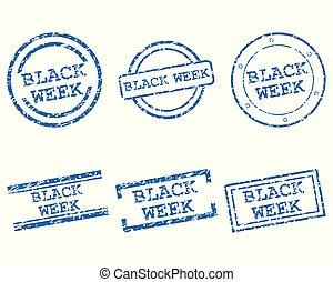 noir, timbres, semaine