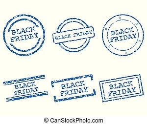 noir, timbres, vendredi