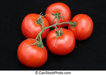 noir, tomates