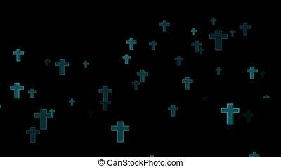 noir, tombeaux, esprits, écran, né, fané, flotter, était