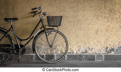 noir, vélo