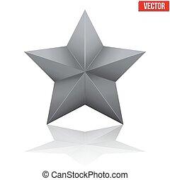 noir, vecteur, star., cinq-pointu, illustration
