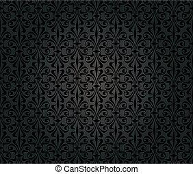 noir, vendange, papier peint