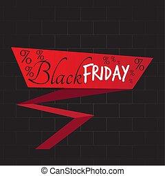 noir, vendredi, étiquette