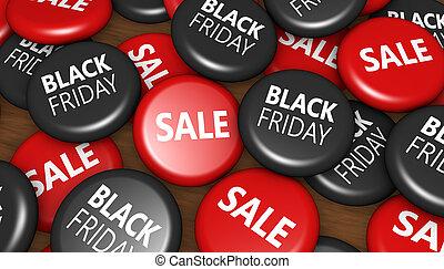 noir, vendredi, achats