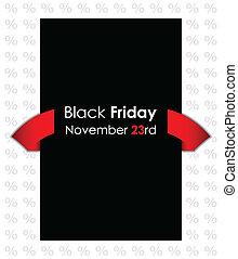 noir, vendredi, bannière, spécial