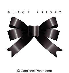 noir, vendredi, bannière