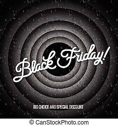 noir, vendredi, conception, vente