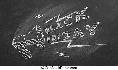noir, vente, vendredi