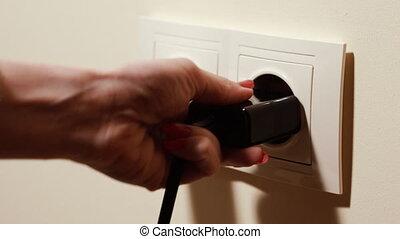noir, white., charger., chargeur, téléphone, mobile