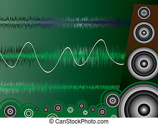 noise - A moise related image showing a drawn speaker and...
