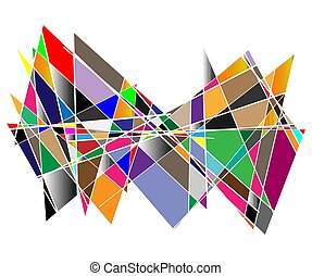 Noise, glitch concept abstract colorful vector illustration. Random rectangles, squares mosaic, tessellation geometric background element, pattern and texture