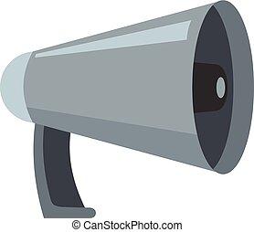 Noise megaphone icon, cartoon style