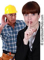 Noise on a construction site